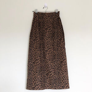 Vintage BRIGGS Cheetah Print Midi High Waist Skirt